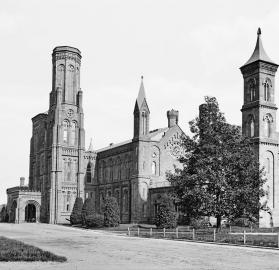 View of the Smithsonian Castle building