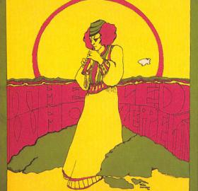 The Who and Led Zeppelin Concert Poster, Merriweather Post Pavilion, May 25, 1969, Tina Silverman, artist