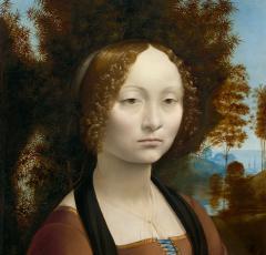 Portrait of Ginevra de' Benci by Leonardo da Vinci