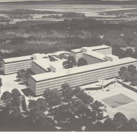 Artist's rendering of CIA headquarters built in Langley, VA. (Source: CIA.gov)