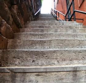 "The ""Exorcist"" stairs in Georgetown, which did not figure in the actual case that inspired the movie."
