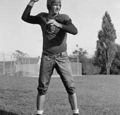 Redskins quarterback Sammy Baugh (Source: Library of Congress)