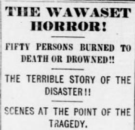 An announcement in The Evening Star about the Wawaset disaster (Source: Library of Congress)