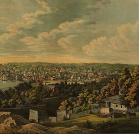 View of Georgetown ca. 1855