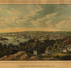View of Georgetown ca. 1855