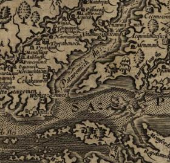 Map of Virginia showing Potomac River