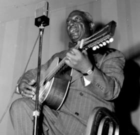 Portrait of Lead Belly, National Press Club, Washington, D.C., between 1938 and 1948